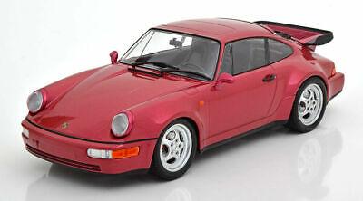 MINICHAMPS 1990 Porsche 911 (964) Turbo Coupe Red 1:18 LE 504 pc*Brand New*NICE!