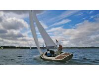Yeoman Day Sailing Boat - 20 foot open day sailer - with 4 wheel purpose built trailer and outboard