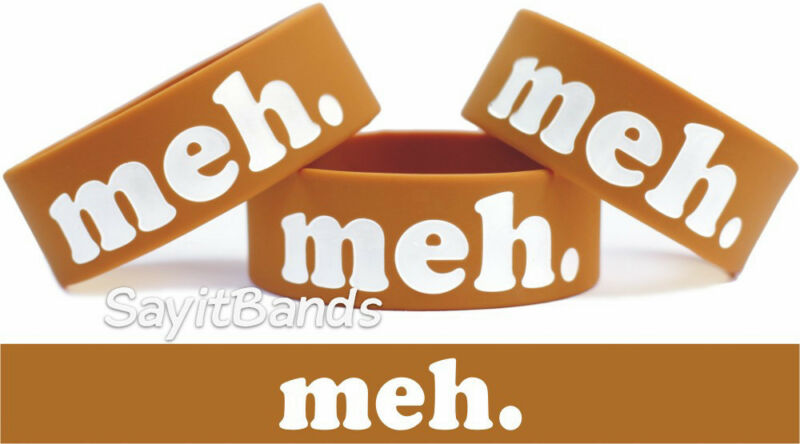 Meh Bracelet Wristband Merchandise for the Bored Sarcastic & Funny Free Shipping