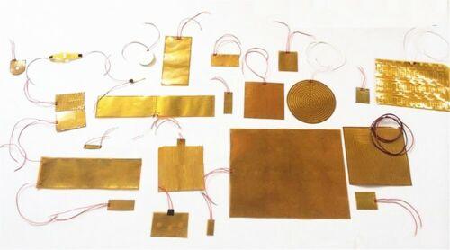 Multiple Size Kapton Heater Universal All Purpose JSRGO CE UL Film Flexible Pad