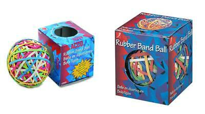 Acco 72155 Rubber Band Ball Approximately 275 Bands Assorted