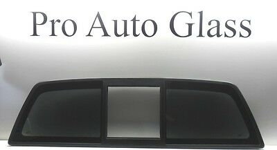 F-150 Ford Rear Back Sliding Glass WITHOUT CENTER Power OR Manual OEM DARK Tint