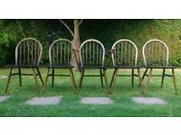 Ercol Windsor Dining chairs Vintage Retro