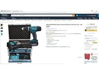 Makita Cordless Hammer Drill 18V with 2 Batteries and Tool chest - BNIB