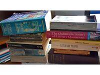Job lot of books for Oxford University English degree course