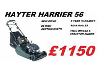 New Hayter Harrier 56 Steel Roller Lawnmower *Pay Off Monthly!*