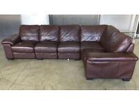 Corner leather sofa DFS