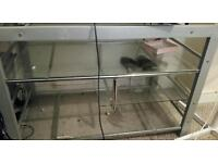 Bargain price chrome an Glass TV stand