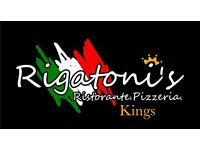 Experience waiter/waitress for Italian restaurant.