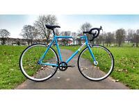 Genesis Flyer - 58 Large - Road Bike Single Speed Reynolds Steel - Full Service, Brand New Tyres