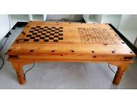Large Unique Mexican Pine Wooden Handcrafted Coffee Table