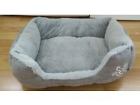 Soft Grey Cat Bed - For Small Cats or Kittens