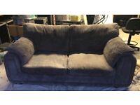 Large grey 2 seater sofa