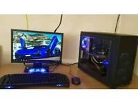 Custom Micro Gaming PC i5 4670k 8gb Ram