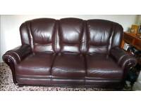 **2 x 3 seater faux leather sofas**