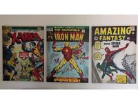 X Men, Spider Man, Iron Man (Marvel) canvas art comic prints