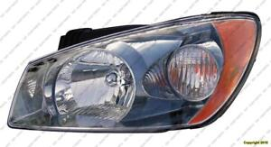 Head Lamp Driver Side (Smoked) Ex/Sx Sedan Model High Quality Kia Spectra 2004-2006