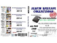1tb external hard drive full of mp3 music albums releases 2013 to 2016 years