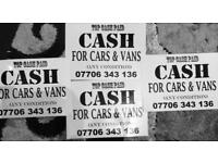 Cash for cars and van