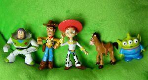 The Toy Story New Figures Set of 5pc Woody Buzz Patato Jessie Alien Donkey