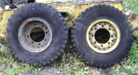 Pair wheels from army vehicle