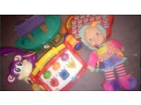 Baby kids toy bundle doll keyboard piano