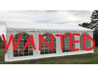 WANTED - Commercial grade Marquee - 6+ metres width - any length up to 16 metres