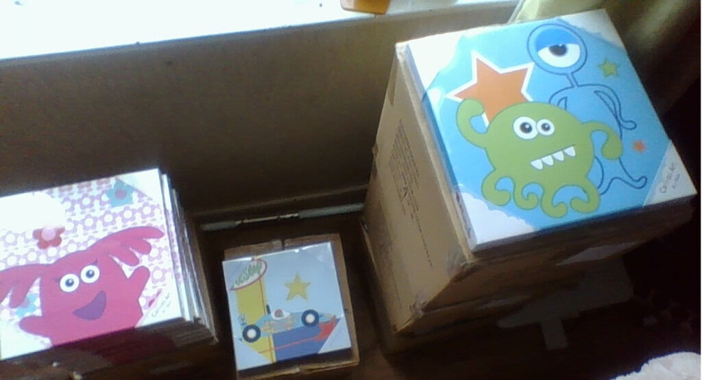 JOBLOT/CAR BOOT - 60 x My Mini Monster canvas wall art pictures - in packaging