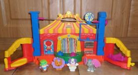 Kids, baby toy circus, animals. Fisher Price Circus with Fisher Price figures