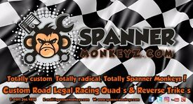 Manufacturing Business For Sale - Custom Quad Bikes - Custom Reverse Trikes - Spanner Monkeyz