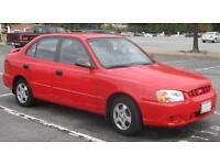 Hyundai accent 5 door hatchback 1.3