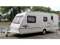 2004 BAILEY PAGEANT CHAMPAGNE, 4 BERTH WITH END BATHROOM & FULL SIZE AWNING - ALL ACCESSORIES !