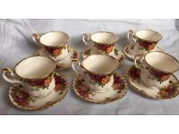 Royal Albert 'Old Country Roses' 6 x Cup & Saucer set, Small size, First Quality