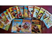 Collection of 18 Beano annuals