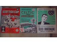 Celtic Scottish Cup Semi Final programmes 50s,60s ,70s