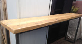 Industrial Mill Reclaimed Wood Breakfast Bar Console Table restaurant cafe