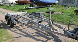 SBS 2000KG BOAT TRAILER FOR BOAT/YACHT WITH BILGE KEELS VGC