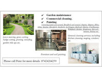 Garden maintenance, Commercial cleaning, Painting. North/West Yorkshire.