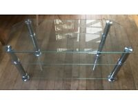 Television Stand - Glass and Steel (3 Shelves)