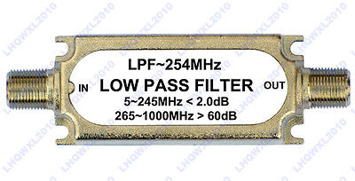 Catv Low Pass Filter F Type Connector Lpf 254mhz 75ohm