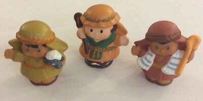 Fisher Price Little People Nativity Shepherds lot, baby lamb