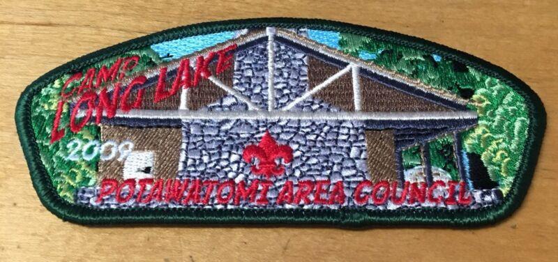 BOY SCOUTS POTAWATOMI AREA COUNCIL 2009 CAMP LONG LAKE CSP PATCH NEW