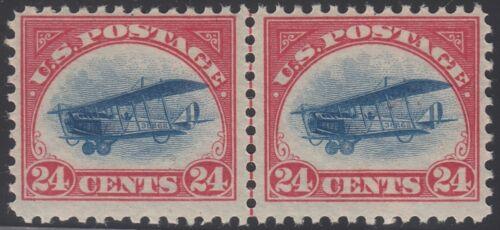 """#c3 Var. 24¢ Airmail Stamp F-vf Og Nh Pair """"slow Plane"""" Variety Cv $280 Bt9509"""