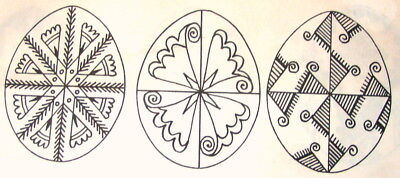 Ukrainian Pysanka Designs for Easter Eggs Paper Patterns Lube Perchyshyn - Ukrainian Easter Egg Patterns