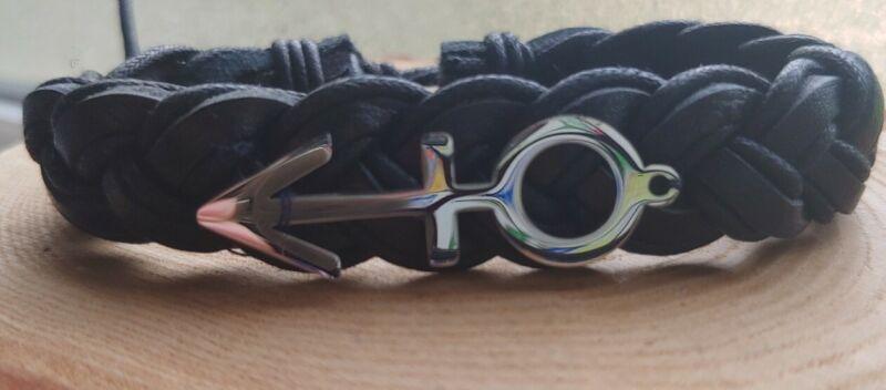 "Prince Rogers Nelson Genuine Leather ""ORIGINAL"" Love Symbol Adjustable Bracelet"