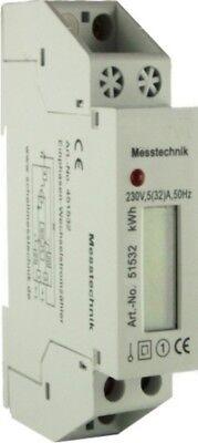 Wechselstromzähler Stromzähler mit LC Display S0 230V, 32A für DIN Hutschiene