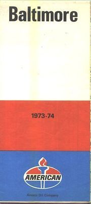 1973/74 American Baltimore Vintage Road Map