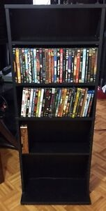 60 DVD's (some blue ray) PLUS Stand