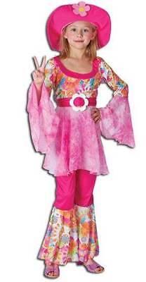 Hippie Diva (Klein), Hippie, 1970'S Mädchen Kostüm, Kinder Buch - 1970 Kostüm Kinder