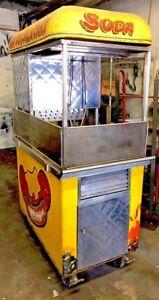 Mobile Hot Dog Cart Trailer Food Vending Concession